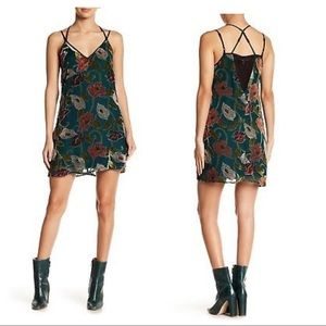 BAND OF GYPSIES Vine Burnout Strappy Mini Dress